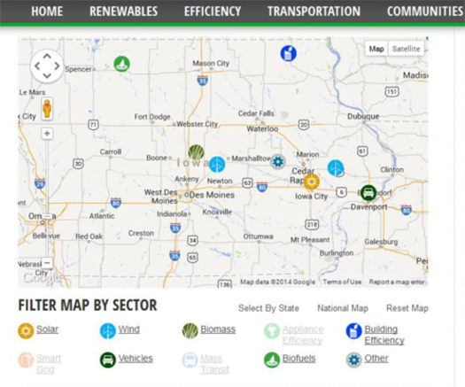 PHOTO: For the fourth quarter of 2013, some 650 new clean energy jobs were announced in Iowa, fifth highest among US states. Photo Credit: Environmental Entreprenuers