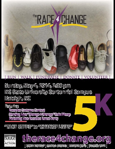 Photo: The Race 4 Change will raise money for the North Carolina Community Action Association on May 4th. Courtesy: NCCAA