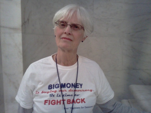 "PHOTO: Ordinary people in West Virginia such as Barbara Frierson are calling the U.S. Supreme Court decision in McCutcheon v. FEC a ""threat to democracy."" Photo credit: Dan Heyman."