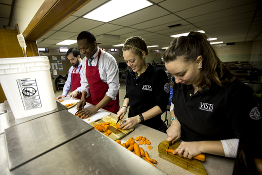 PHOTO: As the AmeriCorps program marks its 20th anniversary, recruitment is beginning for the next terms of service. Photo credit: Ohio Assn. of Foodbanks.
