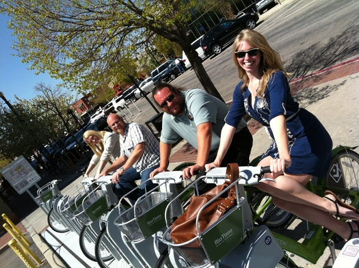 PHOTO: GREENbike is a big hit in Salt Lake City and is among the nation's most successful bicycle share program. Photo courtesy GreenBike SLC Bike Share.