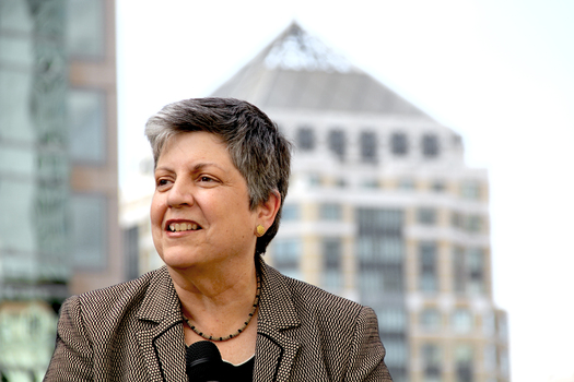 PHOTO: University of California President Janet Napolitano supports Senate Bill 1210 to expand college financial aid for illegal immigrants. Courtesy: University of California.