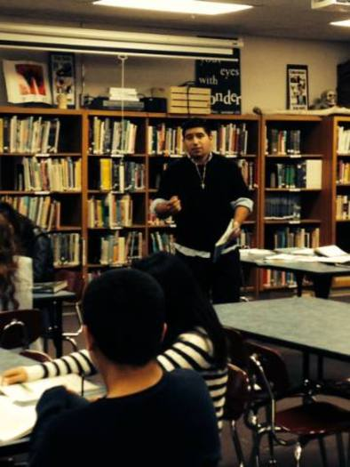 PHOTO: Martin Martinez shares his financial fitness tips in workshops for teens at College Dreams. Martinez is a graduate of the Oregon IDA Initiative. Photo courtesy of Martinez.