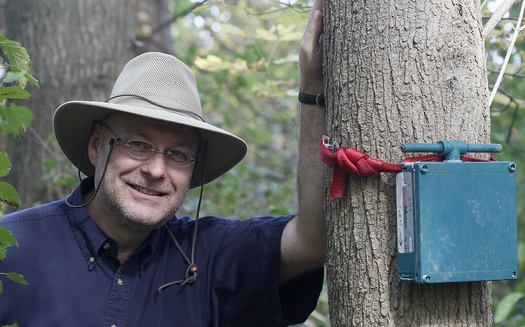 PHOTO: Purdue University researcher Bryan Pijanowski is collaborating with people from around the world for an Earth Day project, attempting to capture up to 1 million natural soundscape recordings. Photo courtesy of Purdue University/Tom Campbell.