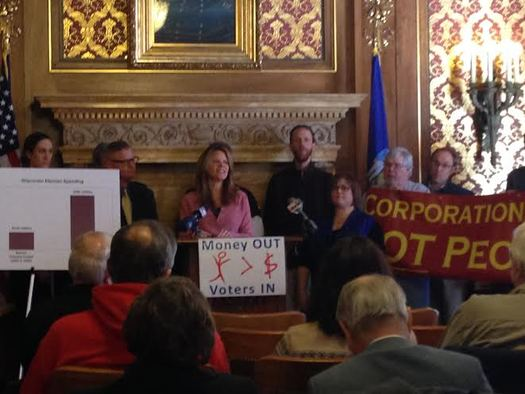 PHOTO: The grassroots group United Wisconsin is urging Milwaukee County Executive Chris Abele to sign a county board resolution for an advisory referendum on the controversial Supreme Court Citizens United decision. Photo courtesy United Wisconsin.
