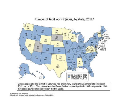 GRAPHIC: Today is Workers Memorial Day, to remember those who lost their lives on the job. In Wyoming, 35 people died at work in 2012. Graphic courtesy of National Council for Occupational Safety and Health.