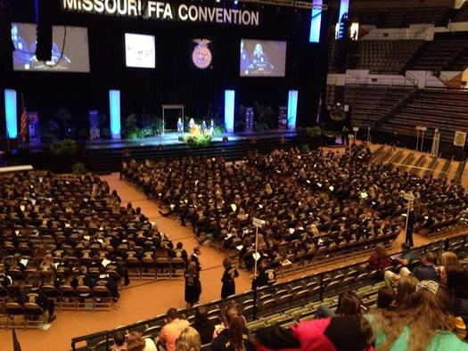 "PHOTO: Missouri farms of the future will rely heavily on technology, and young farmers can lead the way. That was one of the messages of this year's Future Farmers of America state convention, where the theme was ""Grow Your Passion, Unearth Your Purpose."" Photo courtesy of Missouri FFA."