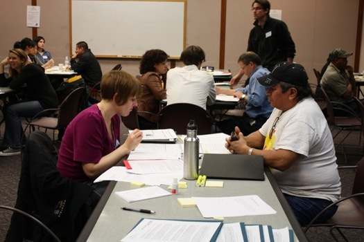 PHOTO: Citizenship Days are held across the country, with volunteers on hand to help people navigate the naturalization process to become U.S. citizens. Photo courtesy OneAmerica.