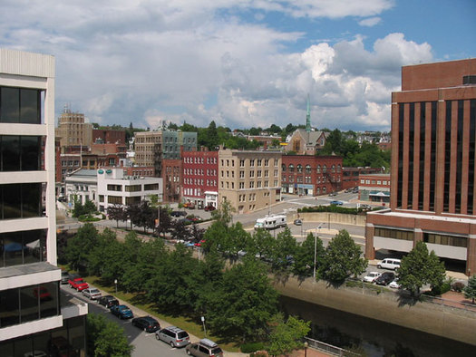PHOTO: Bangor is ranked as one of the cleanest cities for air pollution in the country in a new analysis by the American Lung Association. Portland received a poorer grade. Photo credit: Wikipedia.