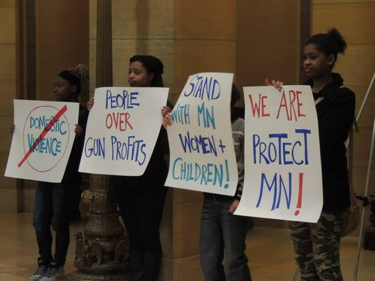 PHOTO: Legislation that would make Minnesotans convicted of domestic or child abuse surrender their guns has cleared the state Senate by a vote of 60-4. The bill was earlier passed in the House and now goes to Gov. Mark Dayton for his signature. Photo credit: Eric Fought/Protect Minnesota
