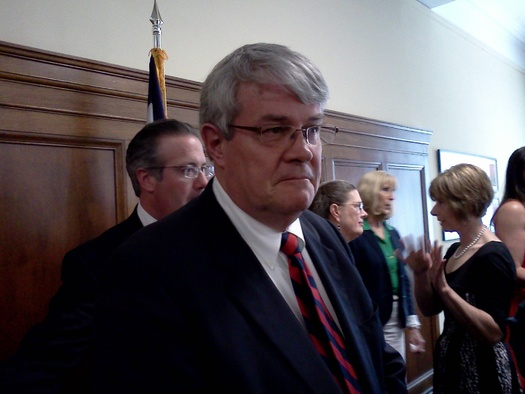 PHOTO: Sen. Bill Laird of Fayette County, a former county sheriff, says cutting programs that help West Virginia families in crisis will cost the state more money in the long run. Photo credit: Dan Heyman.