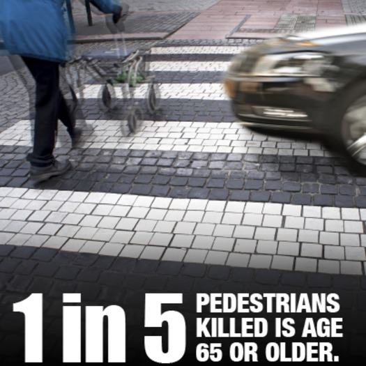 Photo: Florida ranks number one in the nation when it comes to pedestrian fatalities, and Dangerous by Design finds that older Americans are at particular risk. Courtesy: AARP Florida