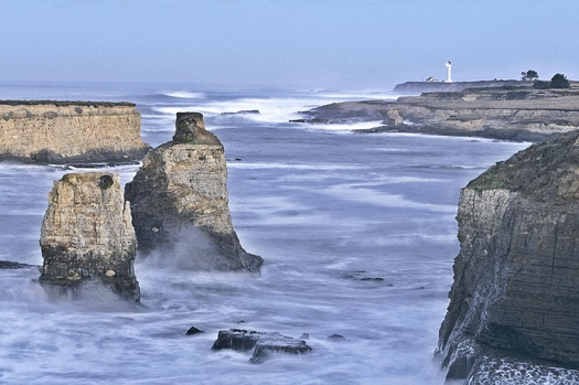 "PHOTO: Seastacks and lighthouse at Point Arena-Stornetta California Coastal National Monument, which was protected earlier this year. The area was highlighted as the number three ""Place to Go in 2014"" by the New York Times. Photo credit: Scott Chieffo."