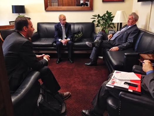 PHOTO: Will Phillips and Jim Scheibel with AARP Minnesota meeting with Rep. Collin Peterson on Wednesday in Washington D.C. Photo courtesy: AARP.