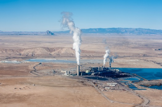PHOTO: Conservation groups are opposing a new 25-year lease for the coal-fired Four Corners Power Plant. Photo credit: EcoFlight and San Juan Citizens Alliance.