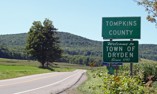 PHOTO: The town of Dryden is one of two municipalities with zoning laws banning fracking for natural gas. Their cases are being argued today in New York's highest appeals court. Photo courtesy of the town of Dryden.