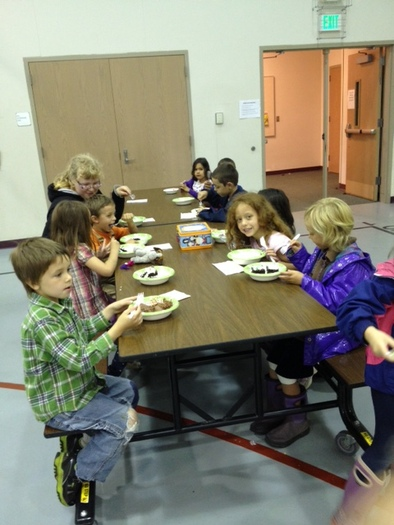 PHOTO: Successful summer meal programs for kids combine healthy food with fun activities to keep them learning. In tiny Chimacum, it's a community effort for the Jefferson County YMCA. Photo courtesy School's Out Washington.