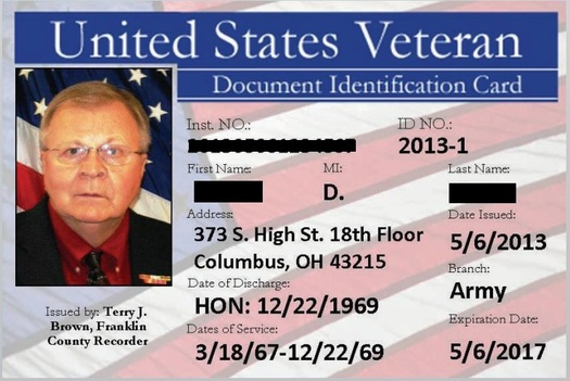 Veterans Thanking Public News Program Service Id Counties With Ohio Card