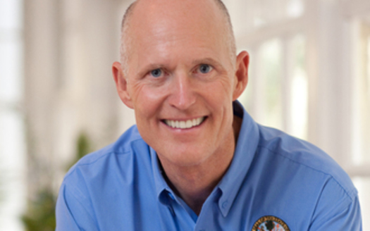 PHOTO: Gov. Rick Scott touts his administration's role in creating more than 800,000 new jobs in Florida since taking office in 2011. Photo courtesy Office of the Governor.