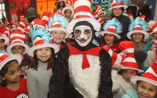 In celebration of the birthday of children's author Dr. Seuss, schools encourage children to read, often with events tied to characters in his legendary books. (National Education Association)