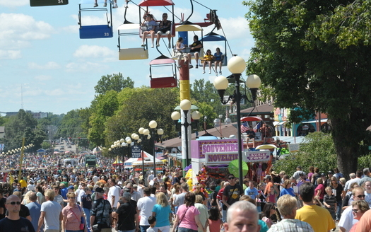 More than a million visitors are expected at the Iowa State Fair, which starts Thursday. (Wikimedia Commons)