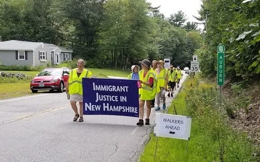 Up to 50 people a day have signed up to walk some or all of the 40-mile route. (NH Council of Churches)
