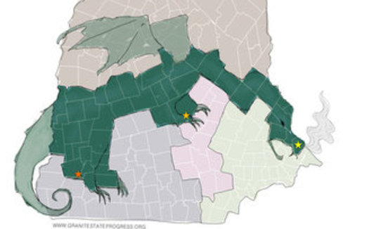 New Hampshire's District 2 Executive Council seat, which crosses the state from the seacoast to Vermont, is often cited as an example of gerrymandering. (Granite State Progress)