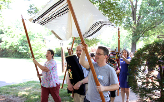 The Beth El congregation in Durham returns to its synagogue after worshiping for more than a year at Trinity Avenue Presbyterian Church. (Beth El Synagogue)