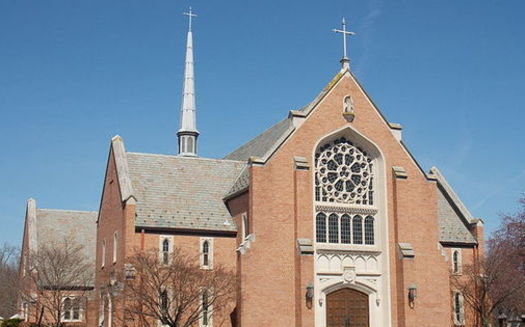 The Episcopal Church of Our Saviour in Silver Spring, Md., was defaced with racist graffiti in 2016, one of many hate-crime incidents that led the state to offer grants to help houses of worship increase security. (Episcopal Church of Our Saviour)