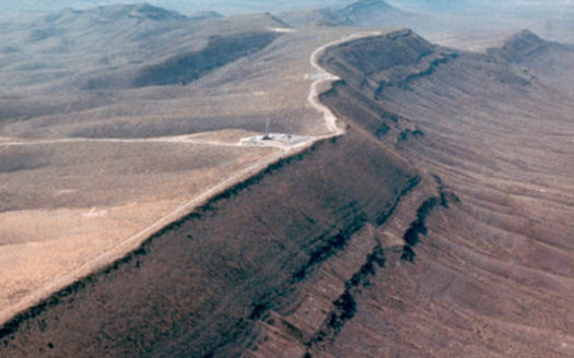 The Trump administration is trying for the third time this year to get funds from Congress to revive a proposed nuclear repository at Yucca Mountain. (State of Nevada)