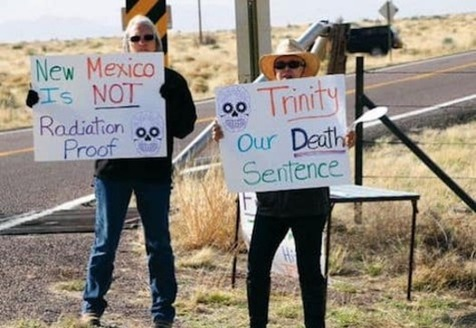 New Mexico's Trinity atomic bomb test site on the White Sands Missile Range is open to the public twice annually. (nuclearactive.org)