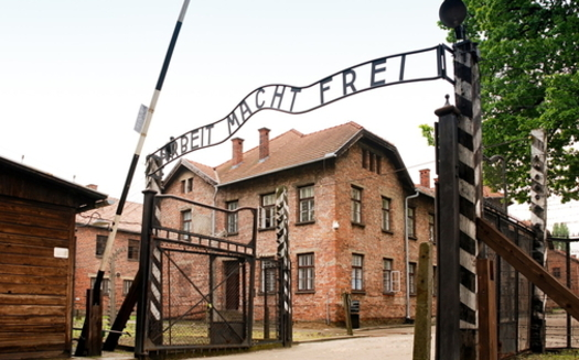 Almost half of millennials in America can't name one of the many Nazi concentration camps, such as Auschwitz (above), in Europe during The Holocaust. (Wikimedia Commons).