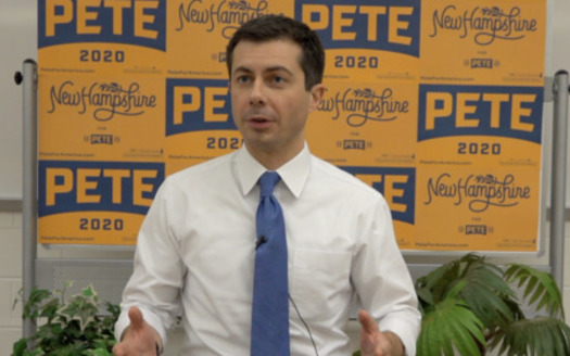 Former Mayor Pete Buttigieg of South Bend, Ind. is currently in fourth place in the latest national Democratic Party primary opinion polls. (Kevin Bowe/Public News Service)