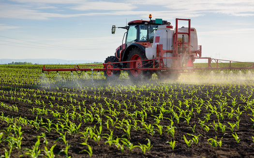 Each year, millions of acres of crops in the U.S. are sprayed with chlorpyrifos. (Adobe Stock)<br />