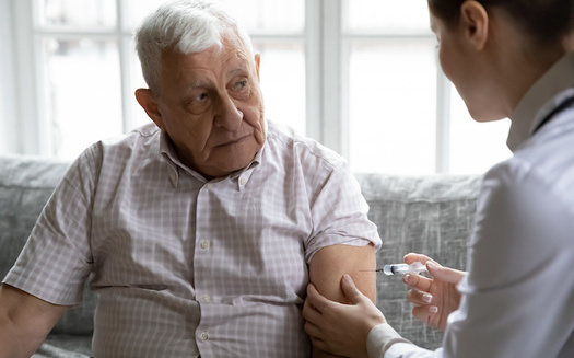 Caregivers for veterans soon may be able to receive a COVID-19 vaccine at the same time as the<br />veteran they care for. (Adobe Stock)