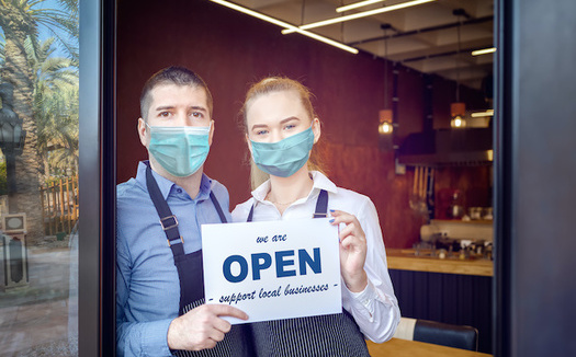 Does protecting businesses from liability for customers' COVID-19 infections excuse those who haven't made safety precautions a priority? Montana legislators are debating the issue. (DanRentea/Adobe Stock)
