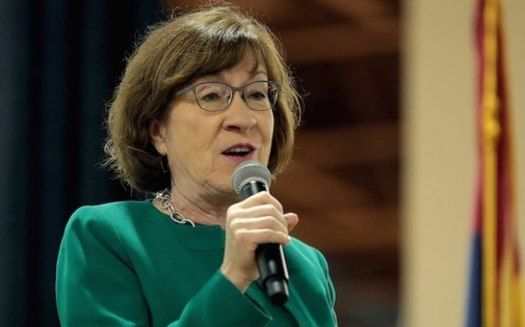 Sen. Susan Collins, R-Maine, led a group of Republican senators in negotiations with President Joe Biden over a COVID relief package. (Wikimedia Commons)