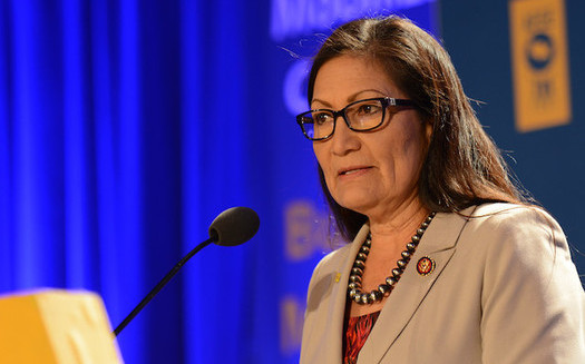 Rep. Deb Haaland, D-NM, has championed conservation legislation while serving in Congress. (AFGE/Flickr)