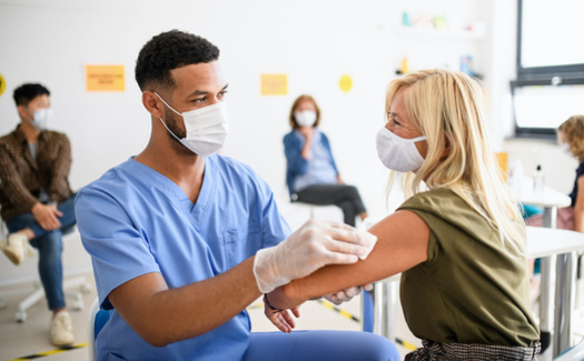 A resource locator helps link users to local sites for information and appointments for COVID vaccines. (Halfpoint/Adobe Stock)