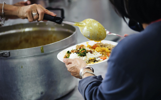 The number of people fed by New York City food pantries and soup kitchens last year increased by 65% over 2019. (kuarmungadd/Adobe Stock)