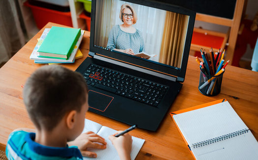 Clark County School District data show distance learning has been difficult for students, with higher rates of absenteeism and failing grades during the pandemic. (Shangaray/Adobe Stock)