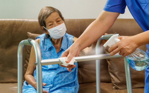 Home caregivers want Washington state to raise their hazard pay to rates comparable with other essential workers. (toa555/Adobe Stock)