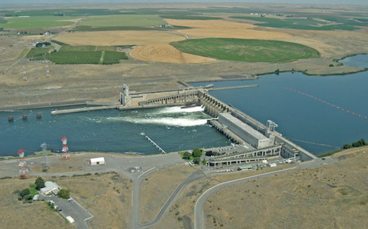 The Ice Harbor Dam in southeast Washington would be breached under a proposal from Rep. Mike Simpson, R-Idaho. (salmonrecovery/Flickr)