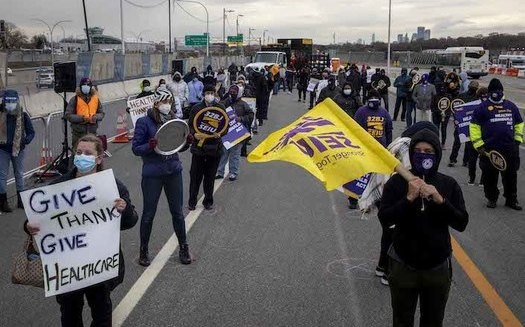 The Healthy Terminals Act, signed into law on New Year's Eve, provides covered airport workers access to quality, affordable health insurance. (SEIU 32BJ)