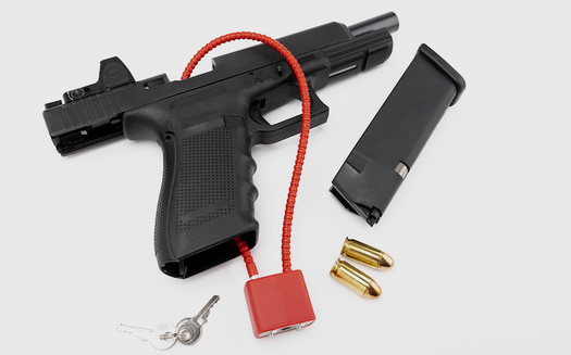 The Gun Safety Consortium says many gun owners fear gun locks will prevent their being able to access their firearms quickly.  (Atlantist studio/Adobe Stock)