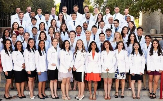 The charter class of UNLV medical school grads enjoyed free tuition, thanks to a scholarship program funded by donations from the community. (Josh Hawkins/UNLV)