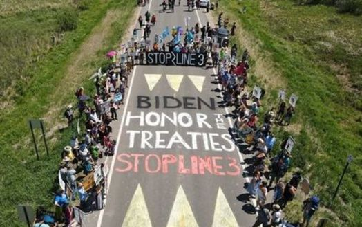 Canada-based Enbridge wants to replace its existing oil pipeline across northern Minnesota, extending from North Dakota on the west and into Wisconsin on the east. That has prompted strong opposition from Native American and environmental groups. (Ron Turney/IEN)