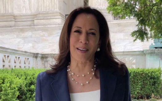 Vice President Kamala Harris addresses immigration at the U.S.-Mexico border in El Paso today, one week ahead of a promised visit by former President Donald Trump. (famouspeople.wiki)