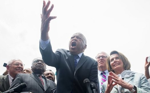 """Across the country on July 17, communities held """"Good Trouble"""" vigils to honor the memory of the late Georgia Congressman John Lewis. (Wikimedia Commons/U.S. Congress, Office of Nancy Pelosi)"""