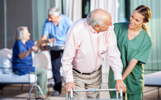 As of late July, fewer than one in ten Michigan nursing homes had at least 75% of its staff members vaccinated, which is the industry standard for this type of facility. (Tyler Olson/Adobe Stock)